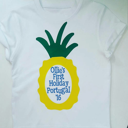 Ollie&Millie's Own - Pineapple Holiday Tee