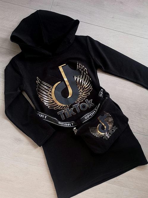 Black and Gold TikTok jumper dress