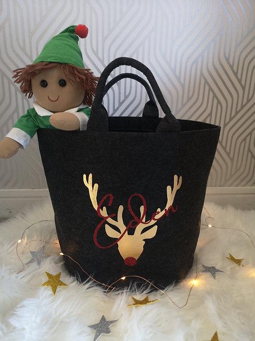 Ollie&Millie's Own - Personalised Christmas Storage Basket,