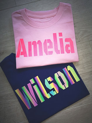 Ollie&Millie's Own - Personalised Reflective Tee