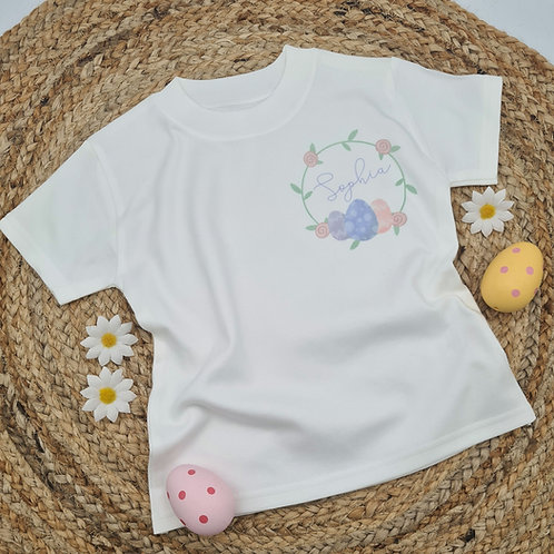 Ollie&Millie's Own - Personalised Easter Wreath Tee