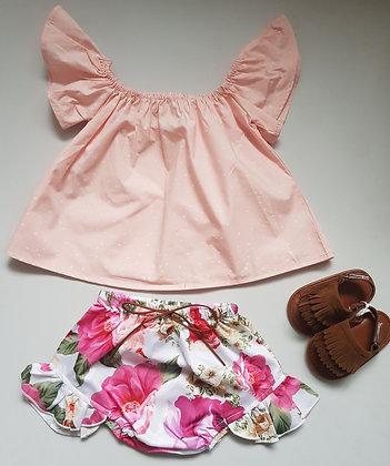 Polka Dot Top & Floral Shorts