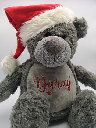 Personalised plush santa bear