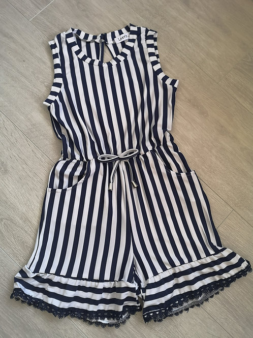 Navy Striped Summer Playsuit