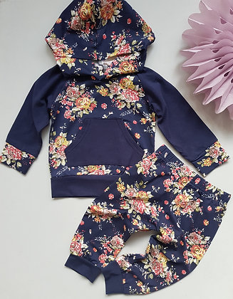 Navy Floral Tracksuit