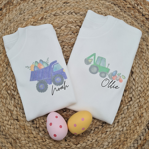 Ollie&Millie's Own - Personalised Easter Truck Tee