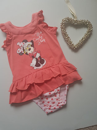 Minnie Mouse Peach Bodysuit