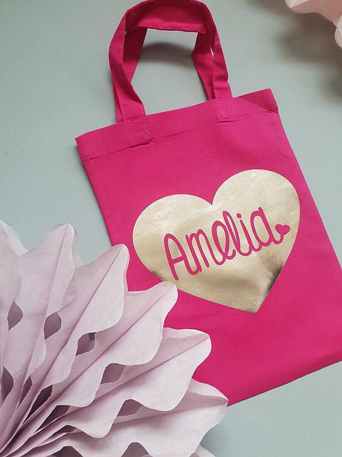 Personalised Heart Bag