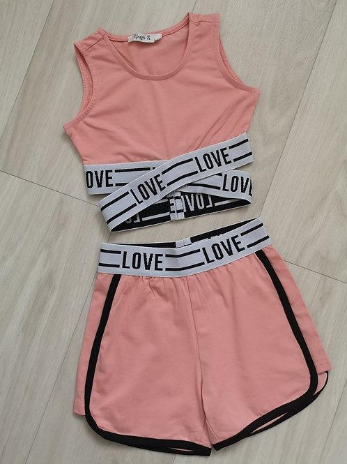 Love Crop and Shorts Set
