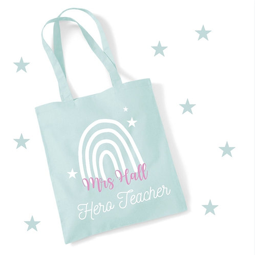 Ollie&Millie's Own - Personalised Hero Teacher Tote Bags