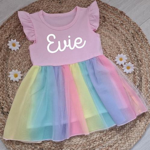Personalised rainbow dress