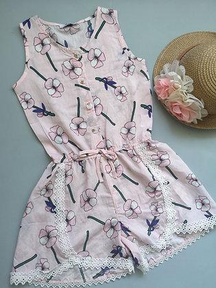 Pink Flower Playsuit