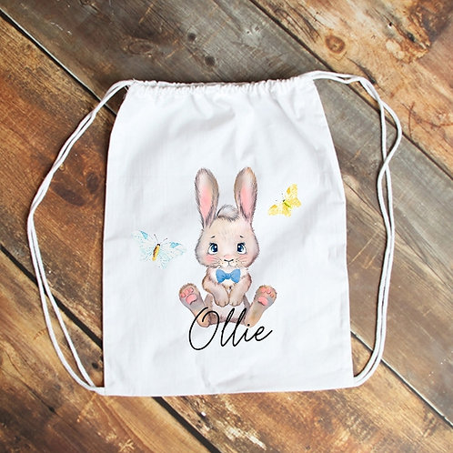 Personalised Bunny Drawstring Bag