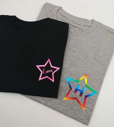Ollie&Millie's Own - Personalised star tee