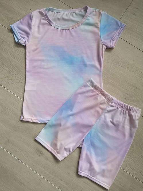 Purple Pastel Tie Dye Summer Set