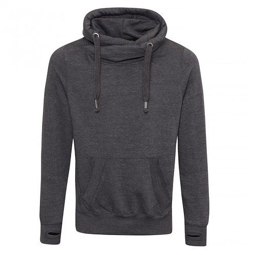 Cross neck hoody