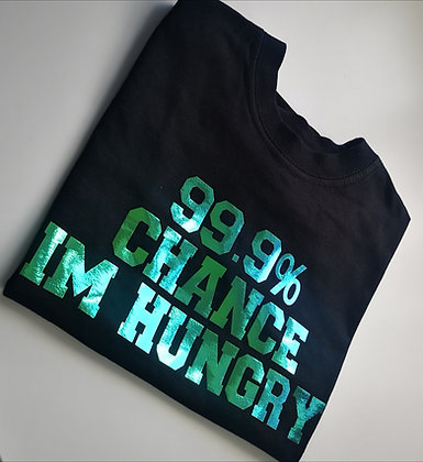 Ollie& Millie's Own - Colour Changing 'im hungry' tee