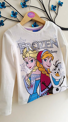 Official Disney Frozen Cream Long Sleeved Top