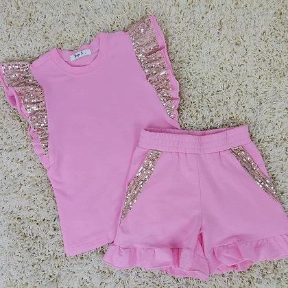 Sequin Ruffle Top & Shorts