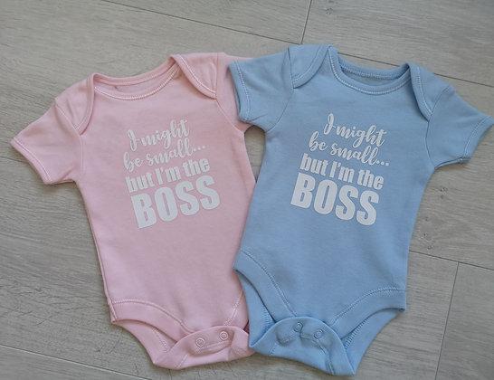 Ollie&Millie's Own - Im the boss bodysuit