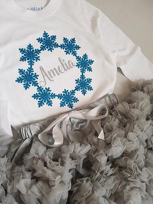 Ollie&Millie's Own - Personalised Snowflake Tee