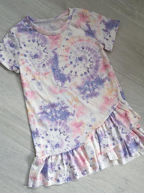 Tie Dye Ruffle Dress