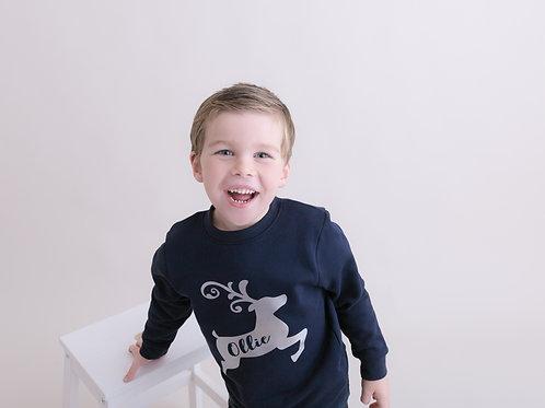 Ollie&Millie's Own - Personalised Reindeer Jumper