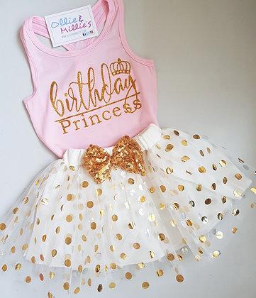 Birthday Princess Vest & Tutu Skirt
