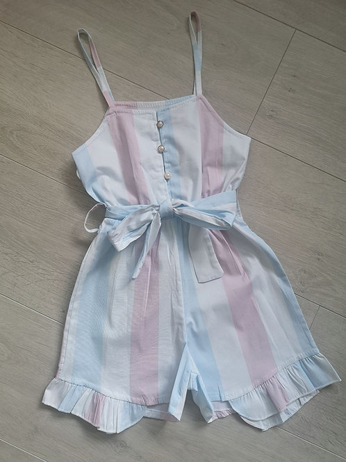Pastel Striped Playsuit