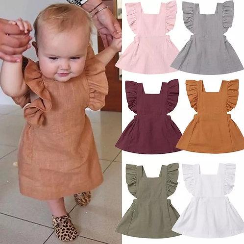 Ruffle Pinafore Dress
