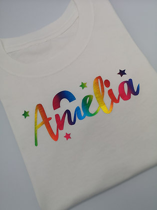 Ollie&Millie's Own - Rainbow Personalised Tee