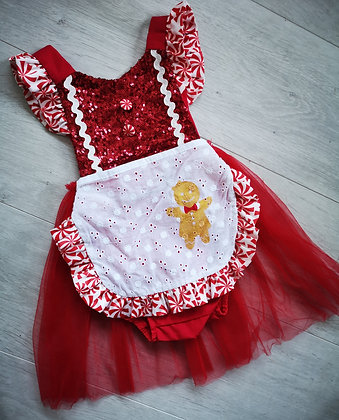 Girls Red Sequin rompers