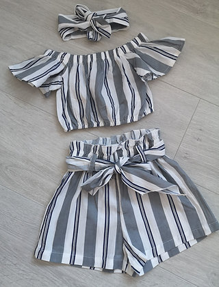 Striped 3 Piece Summer Set