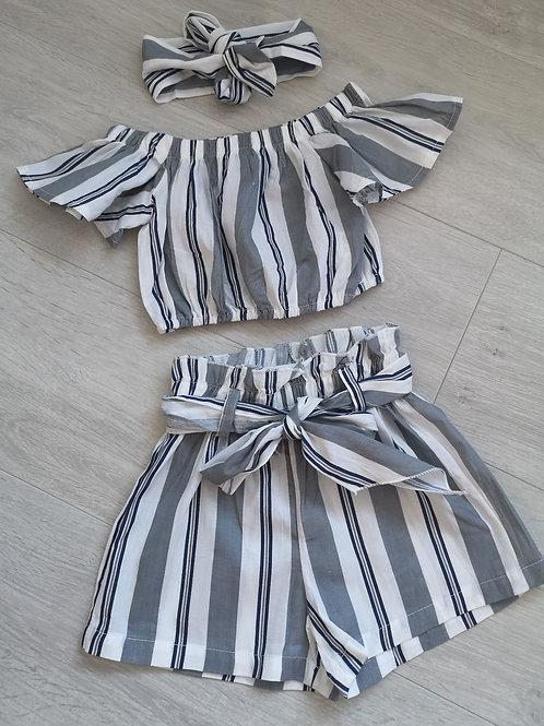 Striped 3 Piece Summer Set