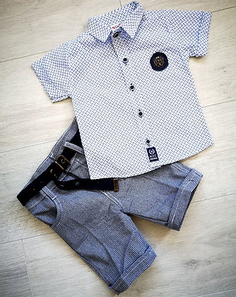 Printed shirt & shorts set