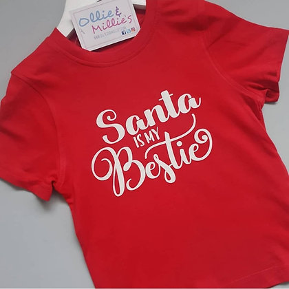 Santa Is My Bestie Tee