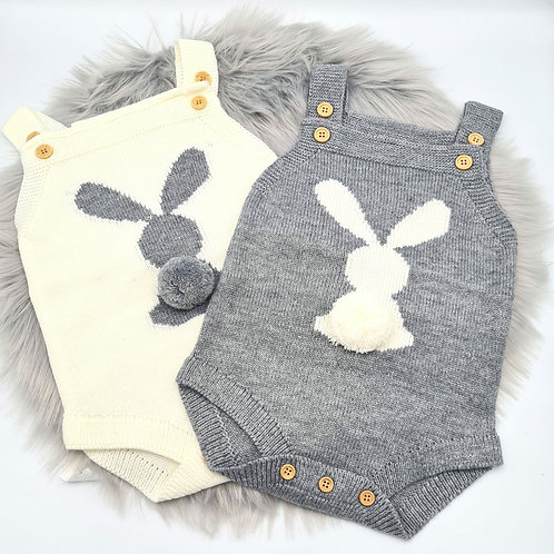 Knitted Bunny Romper