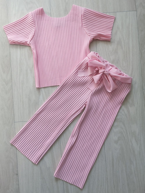 Pink Ribbed 2 Piece