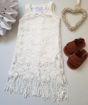 White Lace Festival Summer Dress