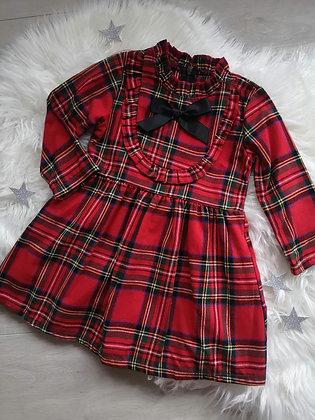 Long sleeve tartan ruffle dress - Old Style