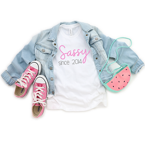 Ollie&Millie's Own - Sassy since (year) tee