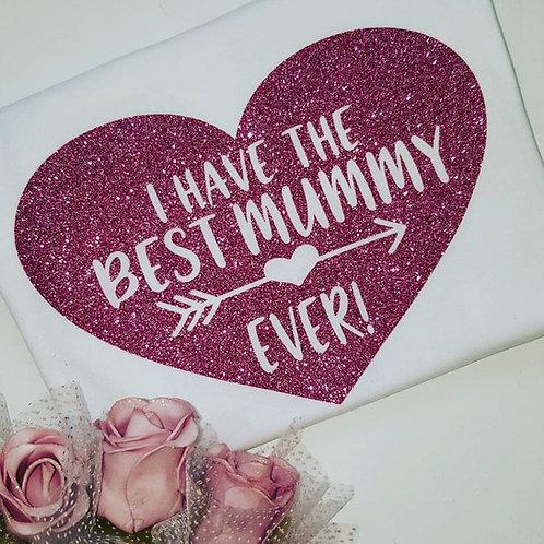 Ollie&Millie's Own - Best Mummy Ever Glitter Heart