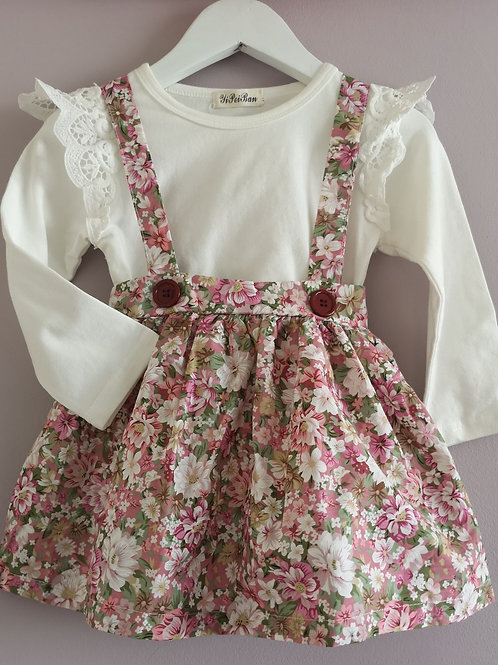 Floral pinafore skirt (top sold separately)