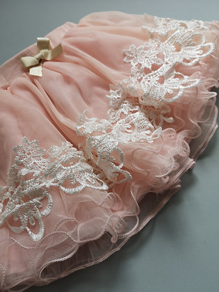 Peach Lace Tutu Skirt