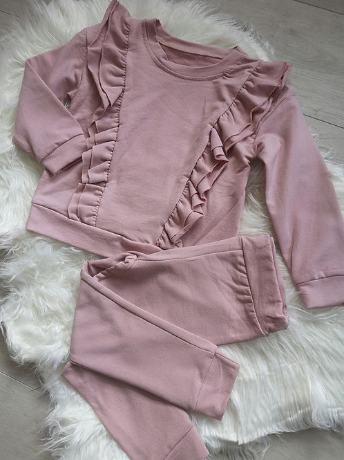 Pink Ruffle lounge set