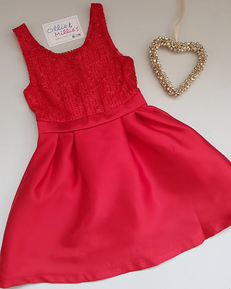 Red Beaded Party Dress