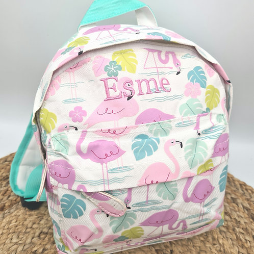 Embroidered personalised mini backpack