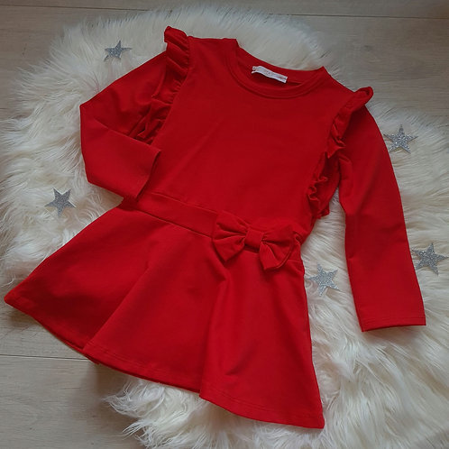 Red Ruffle Bow Dress