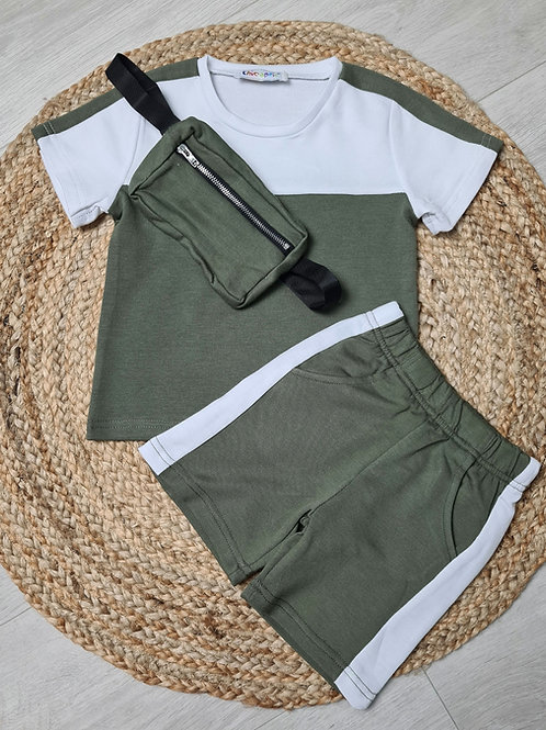 Boys khaki 3 piece summer set