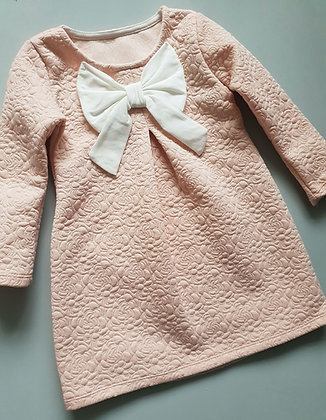 Quilted Pink Bow Dress